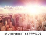 clouds against blue sky against ... | Shutterstock . vector #667994101