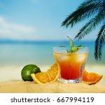 Orange Cocktail And Citrus...