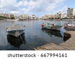 agios nikolaos  crete   greece... | Shutterstock . vector #667994161