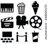 entertainment vector icon set | Shutterstock .eps vector #668000155