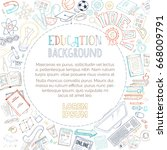 vector doodles education... | Shutterstock .eps vector #668009791