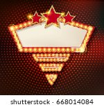colorful retro marquee stylish...   Shutterstock .eps vector #668014084
