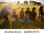 elementary school kids and... | Shutterstock . vector #668014471