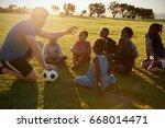 elementary school kids and... | Shutterstock . vector #668014471
