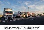 belgium   jun 23  2017  truck... | Shutterstock . vector #668015245