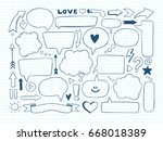 hand drawn vector illustration. ... | Shutterstock .eps vector #668018389