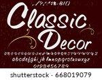 font script typeface... | Shutterstock .eps vector #668019079