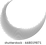 vector curved lines . design... | Shutterstock .eps vector #668019871