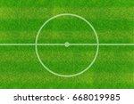 center of soccer field | Shutterstock . vector #668019985
