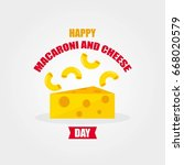 national macaroni and cheese... | Shutterstock .eps vector #668020579