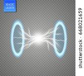 magic fantasy portal.... | Shutterstock .eps vector #668021659
