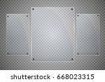 glass plates are installed.... | Shutterstock .eps vector #668023315