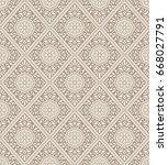 vector damask wallpaper | Shutterstock .eps vector #668027791