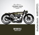 vintage motorcycle poster | Shutterstock .eps vector #668035921