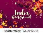 india background banner... | Shutterstock .eps vector #668042011