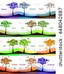 calendar design from green... | Shutterstock .eps vector #668042887