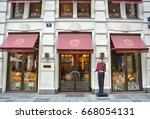 vienna  austria   may 03  2016  ... | Shutterstock . vector #668054131