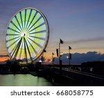 bright colors illuminating the... | Shutterstock . vector #668058775