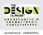 vector of modern abstract font... | Shutterstock .eps vector #668060041