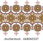 embroidered good like handmade... | Shutterstock .eps vector #668060107