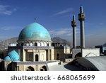 blue mosque in kabul  ...   Shutterstock . vector #668065699