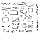 doodle hand drawn page designs. ... | Shutterstock . vector #668066485
