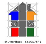 house repair.vector image of... | Shutterstock .eps vector #668067541