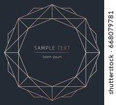 vector modern design template... | Shutterstock .eps vector #668079781