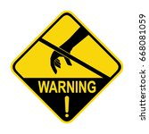 warning   anti  static device.... | Shutterstock .eps vector #668081059