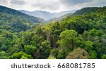 aerial view of rainforest in...   Shutterstock . vector #668081785