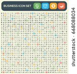 business icon set clean vector   Shutterstock .eps vector #668088034
