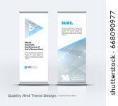 abstract business vector set of ... | Shutterstock .eps vector #668090977