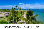 south pointe park. miami beach. ... | Shutterstock . vector #668112145