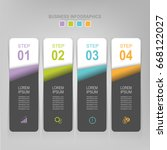 infographic template of four... | Shutterstock .eps vector #668122027