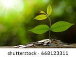 money and growing of business... | Shutterstock . vector #668123311