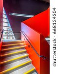 stairs. top view of modern... | Shutterstock . vector #668124304