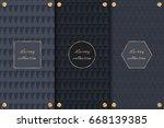 collection of dark backgrounds... | Shutterstock .eps vector #668139385