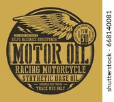 motorcycle motor oil wing... | Shutterstock .eps vector #668140081