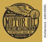 motorcycle motor oil wing... | Shutterstock .eps vector #668140081