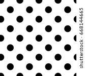 retro dots | Shutterstock .eps vector #668144665