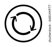 reset icon  iconic symbol... | Shutterstock .eps vector #668144977