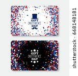usa independence day gift card... | Shutterstock .eps vector #668148181