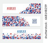 4th july festive horizontal... | Shutterstock .eps vector #668148259