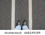 person standing between two... | Shutterstock . vector #668149189