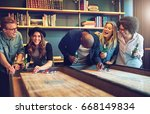 group of friends having fun... | Shutterstock . vector #668149834