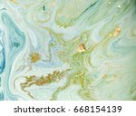 marbled green abstract... | Shutterstock . vector #668154139