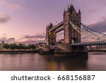 london tower bridge crossing... | Shutterstock . vector #668156887
