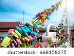 hundred lock view on the... | Shutterstock . vector #668158375
