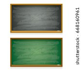 Vector Blackboard Set