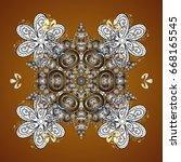 ornamental doodle background....   Shutterstock .eps vector #668165545